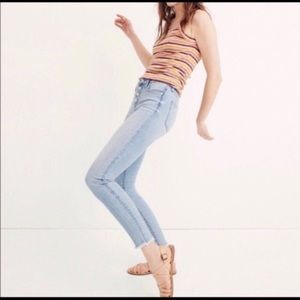 """Madewell 9"""" High rise Cropped Skinny Jeans"""